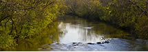 Rivanna River Panorama from Free Bridge, Charlottesville, VA