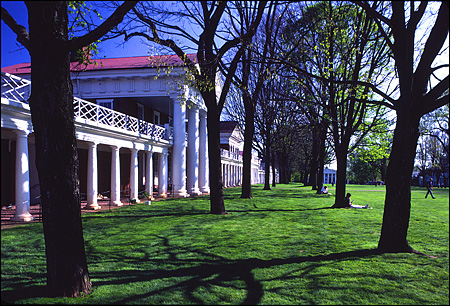 The Lawn in Early Spring, UVA