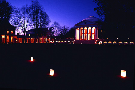 Rotunda and Lawn at Dusk, UVA