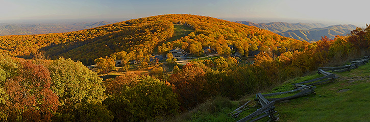 Wintergreen Mountain Fall Panorama, Nelson County, VA